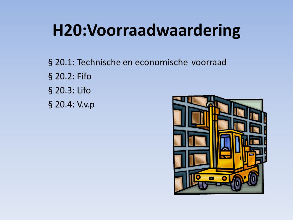 H20:Voorraadwaardering