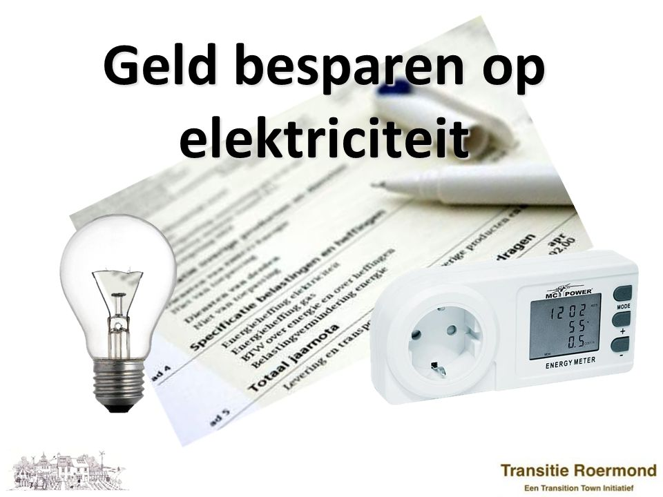 Geld besparen op elektriciteit