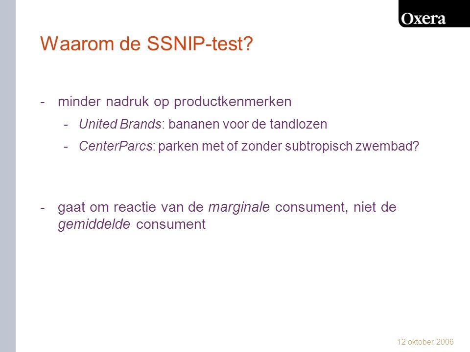 Waarom de SSNIP-test minder nadruk op productkenmerken