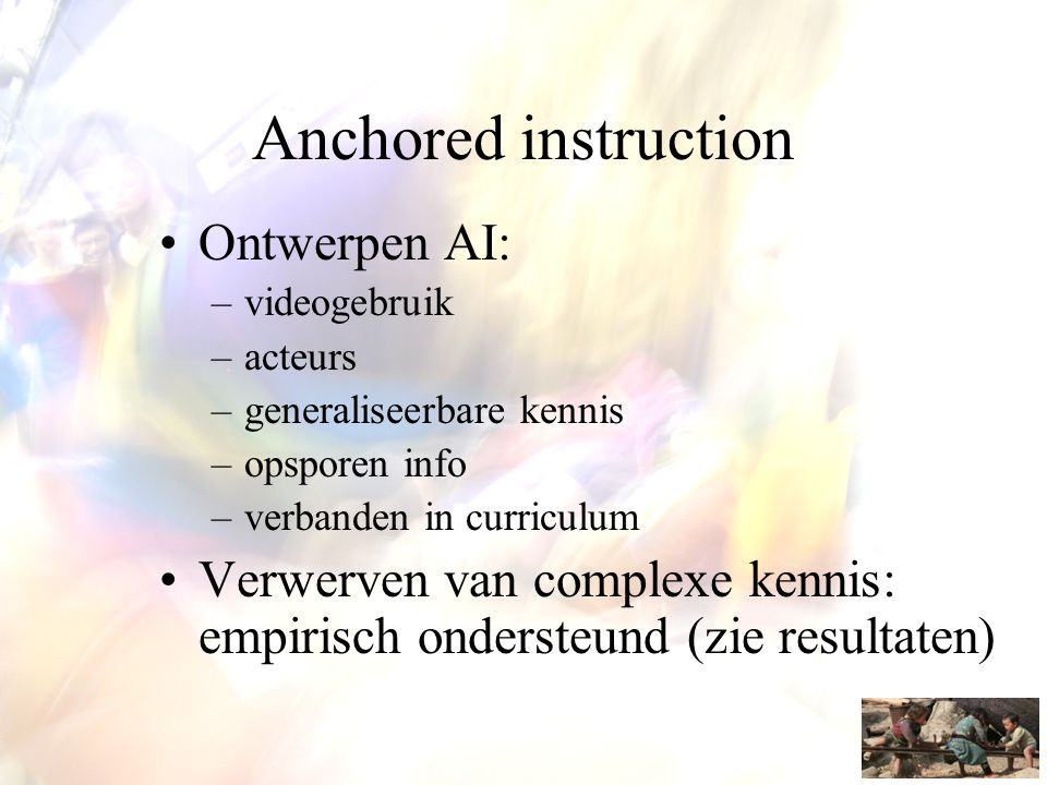 Anchored instruction Ontwerpen AI: