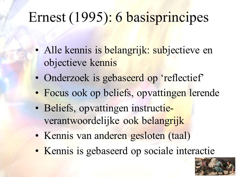 Ernest (1995): 6 basisprincipes