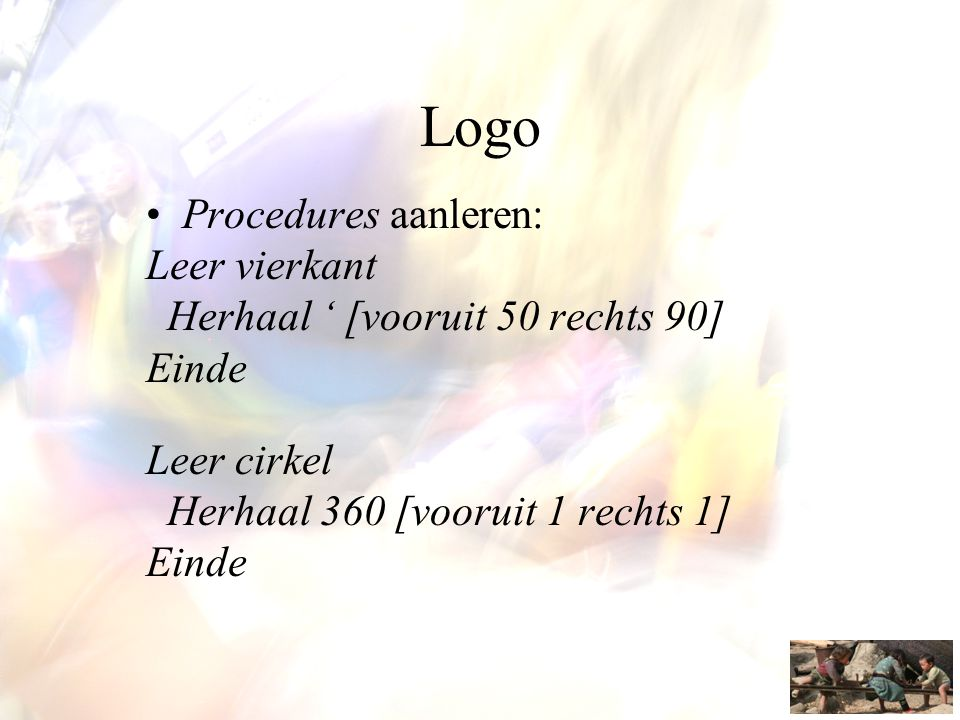 Logo Procedures aanleren: Leer vierkant