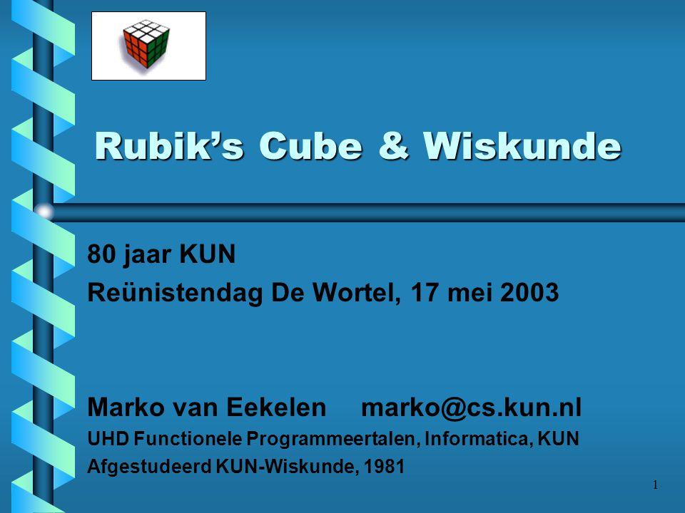Rubik's Cube & Wiskunde