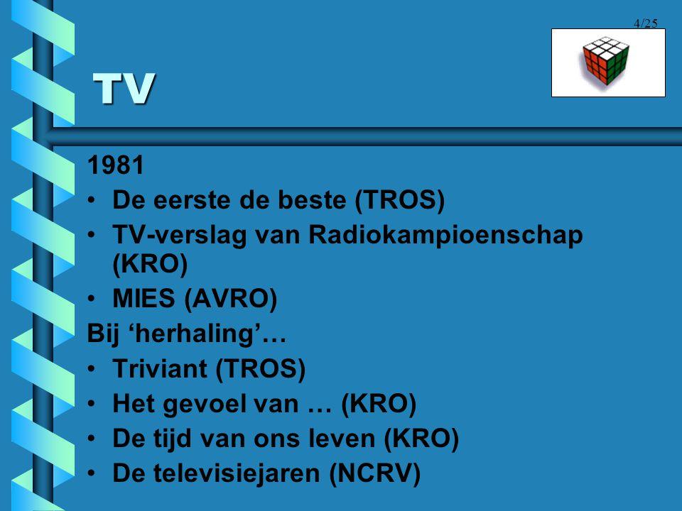TV 1981 De eerste de beste (TROS)