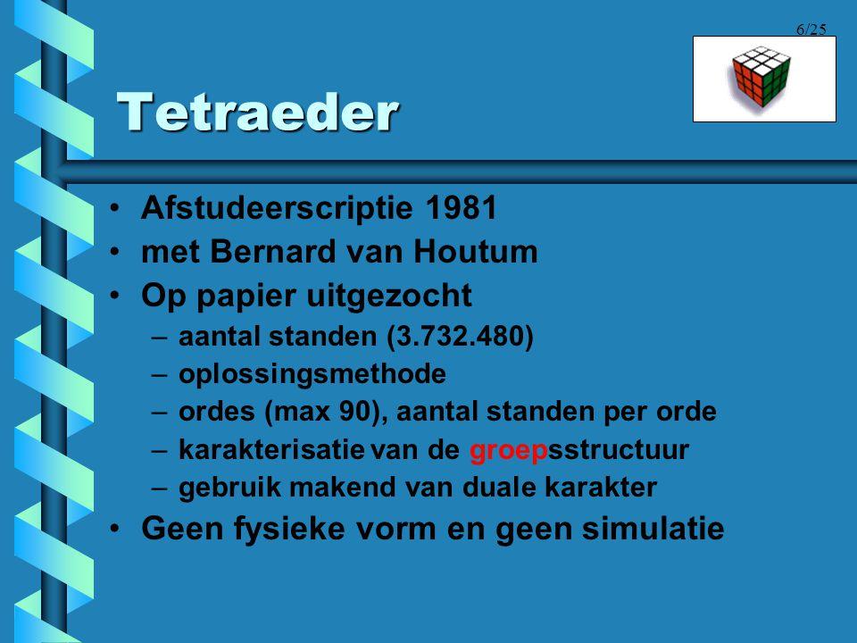 Tetraeder Afstudeerscriptie 1981 met Bernard van Houtum