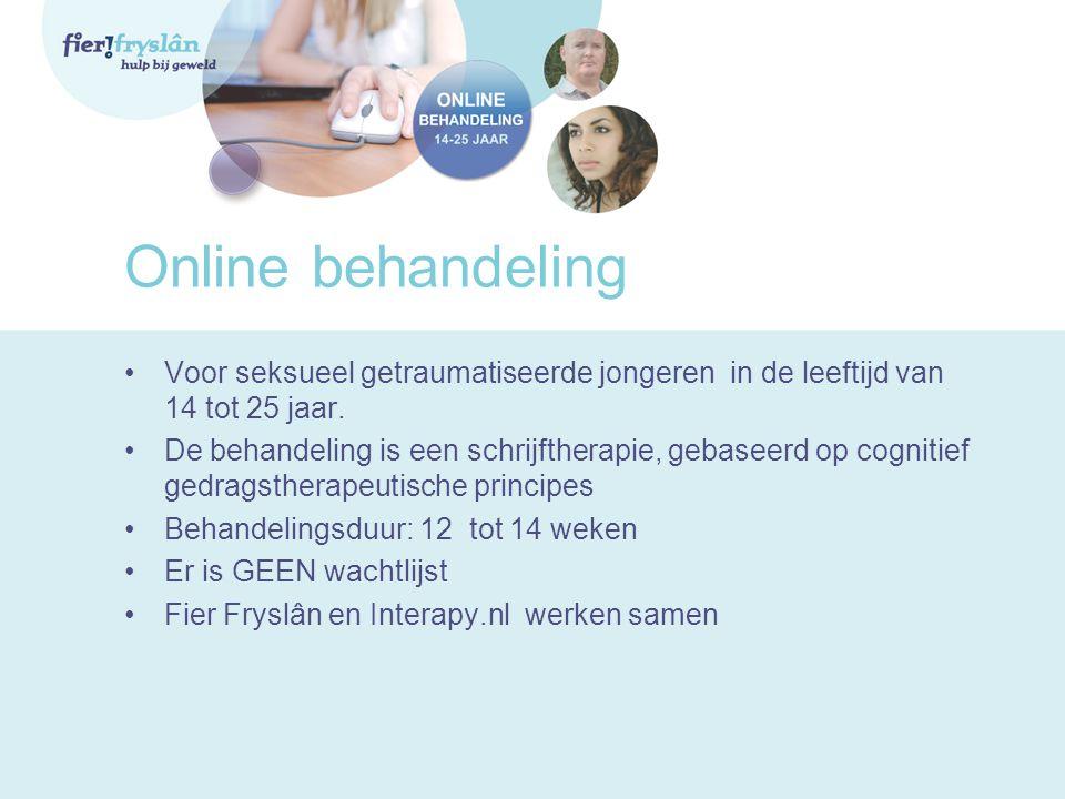 Online behandeling Voor seksueel getraumatiseerde jongeren in de leeftijd van 14 tot 25 jaar.