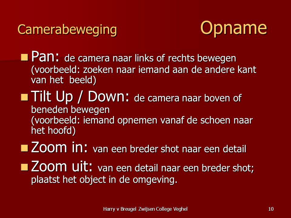 Camerabeweging Opname