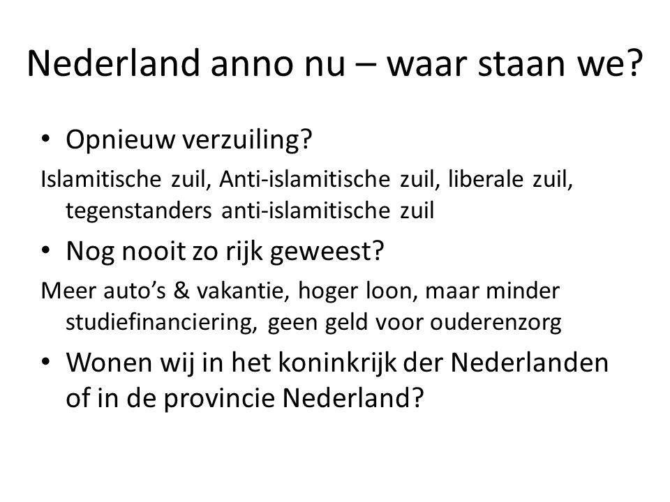 Nederland anno nu – waar staan we