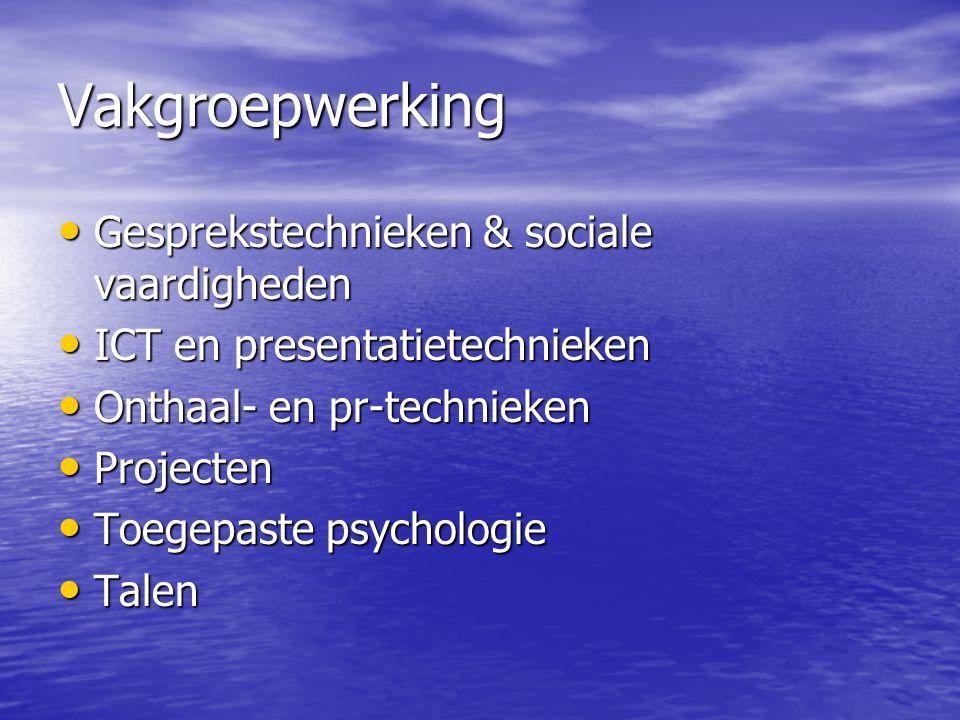 Vakgroepwerking Gesprekstechnieken & sociale vaardigheden