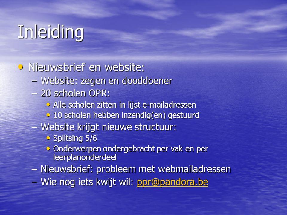 Inleiding Nieuwsbrief en website: Website: zegen en dooddoener