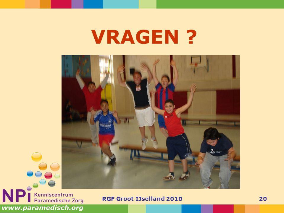 VRAGEN RGF Groot IJselland 2010