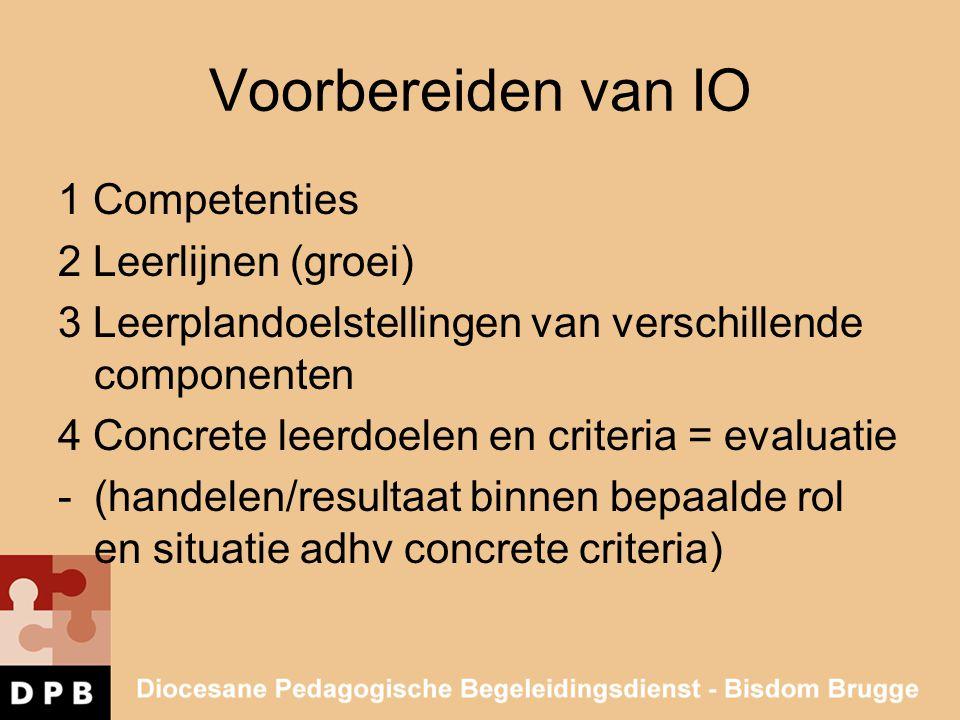 Voorbereiden van IO 1 Competenties 2 Leerlijnen (groei)