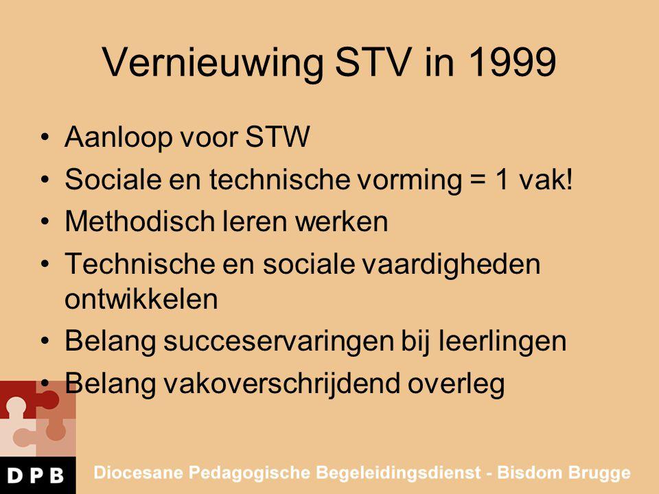 Vernieuwing STV in 1999 Aanloop voor STW