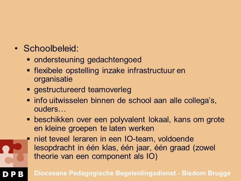 Schoolbeleid: ondersteuning gedachtengoed