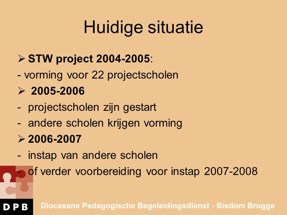 Huidige situatie STW project 2004-2005: