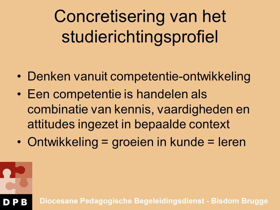 Concretisering van het studierichtingsprofiel