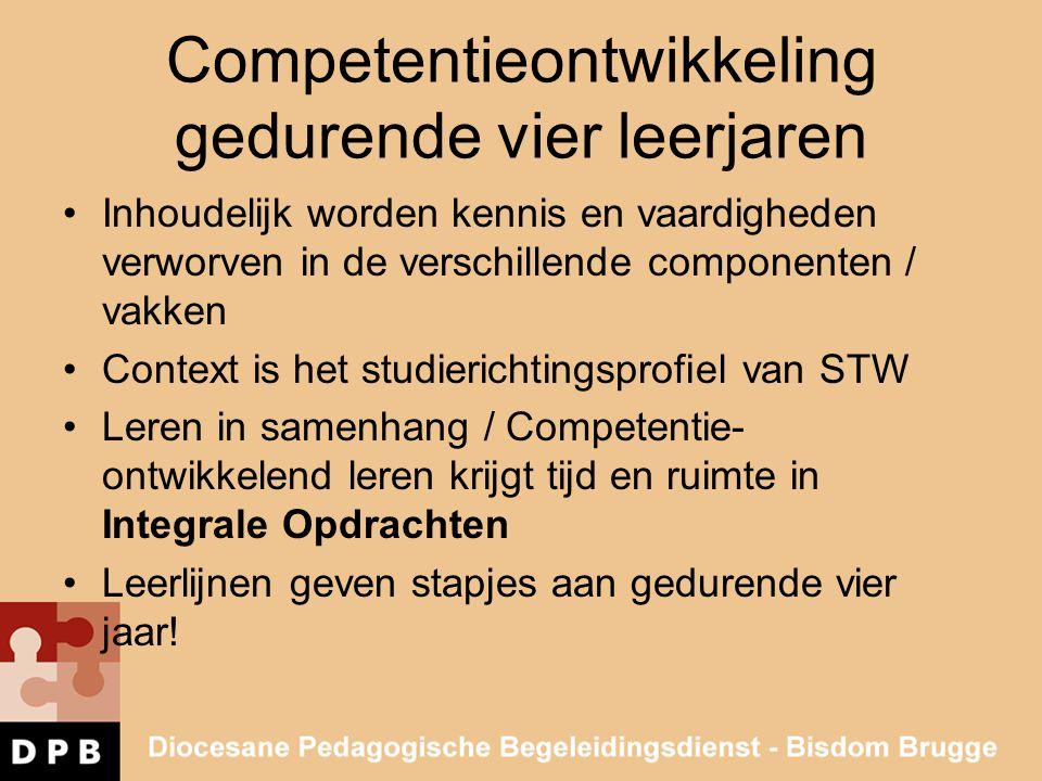Competentieontwikkeling gedurende vier leerjaren