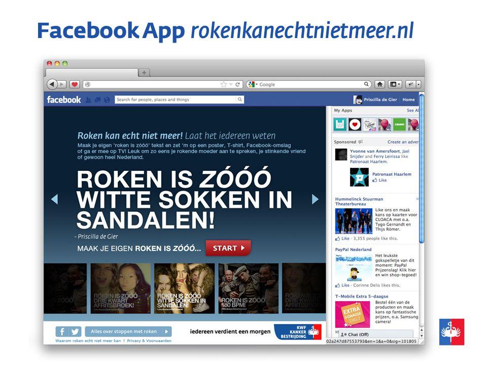 Facebook App rokenkanechtnietmeer.nl