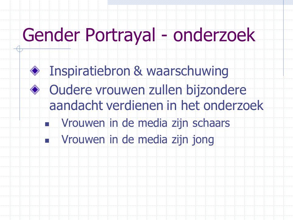 Gender Portrayal - onderzoek