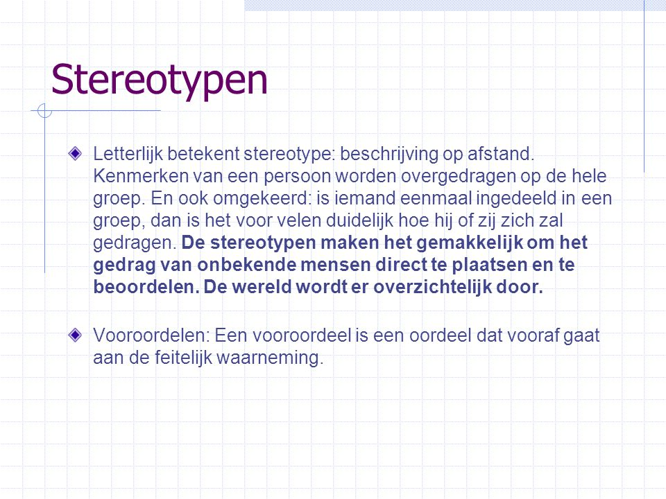 Stereotypen