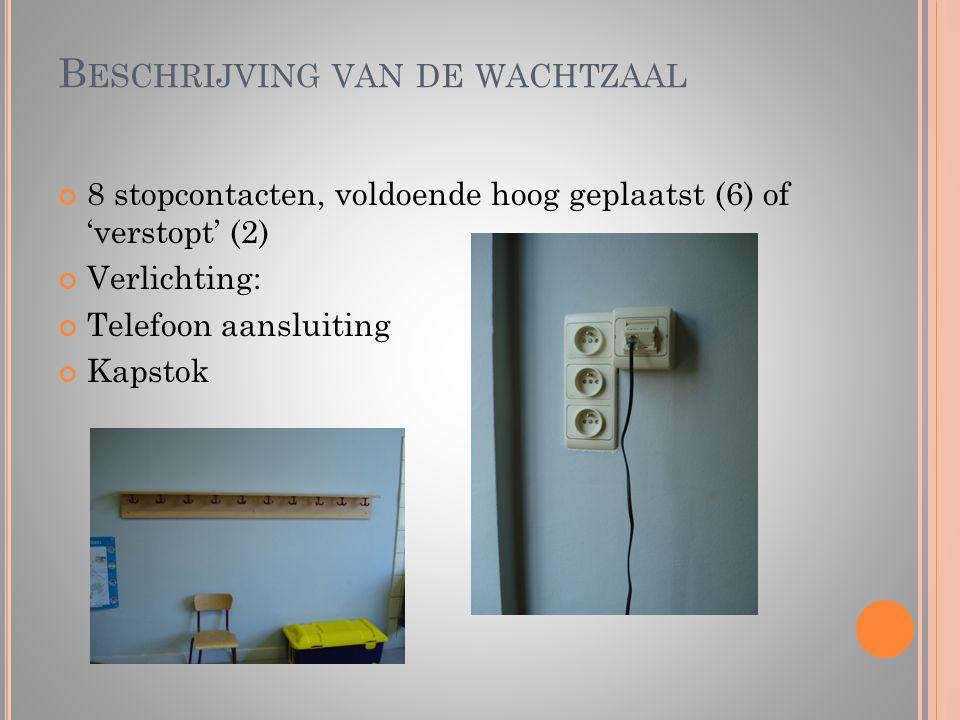 Beschrijving van de wachtzaal