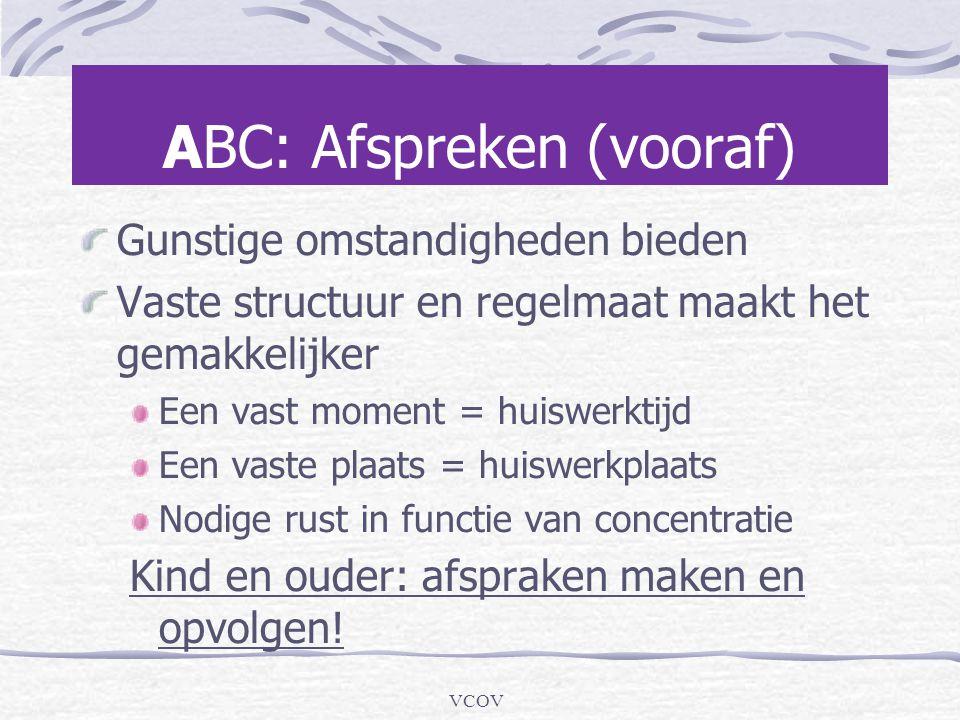 ABC: Afspreken (vooraf)