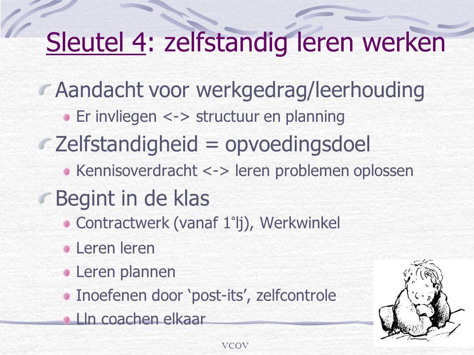 Sleutel 4: zelfstandig leren werken