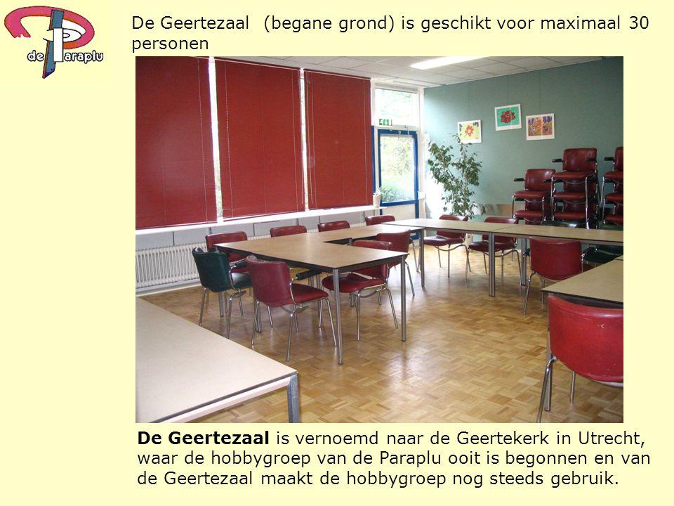 De Geertezaal (begane grond) is geschikt voor maximaal 30 personen