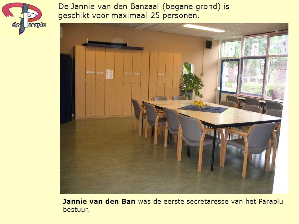 De Jannie van den Banzaal (begane grond) is geschikt voor maximaal 25 personen.