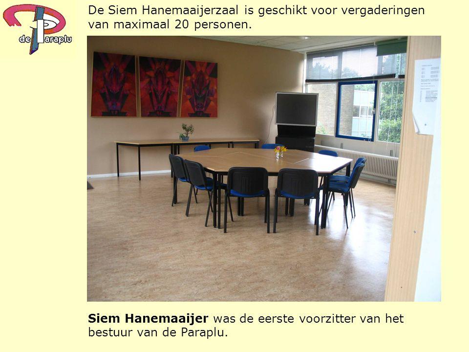 De Siem Hanemaaijerzaal is geschikt voor vergaderingen van maximaal 20 personen.