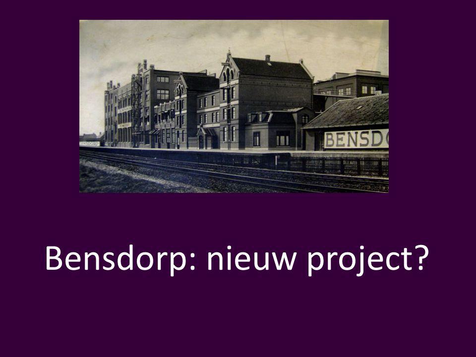 Bensdorp: nieuw project