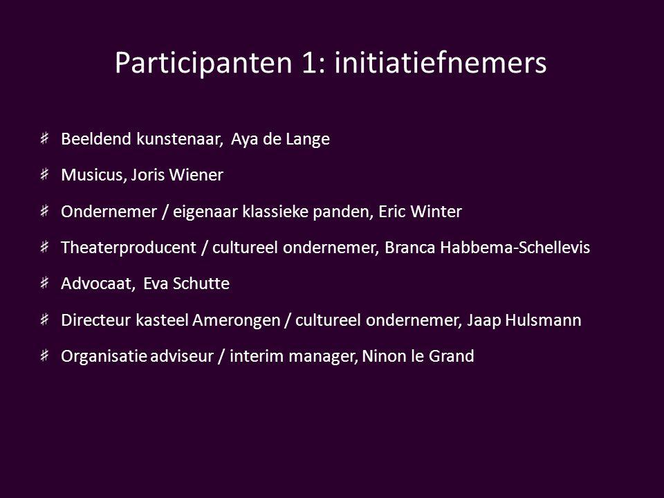 Participanten 1: initiatiefnemers