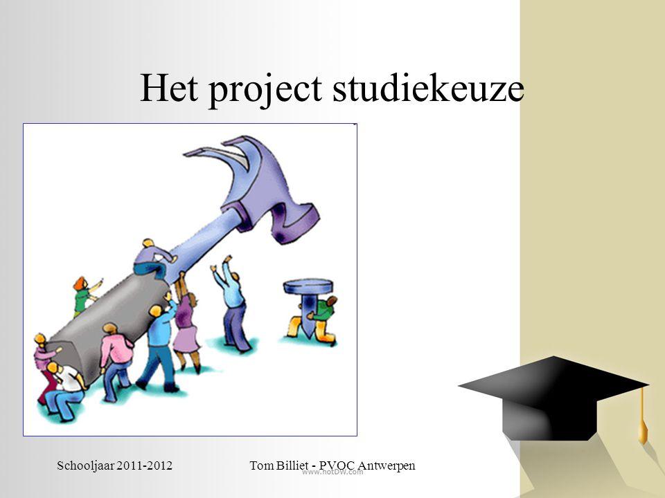 Het project studiekeuze