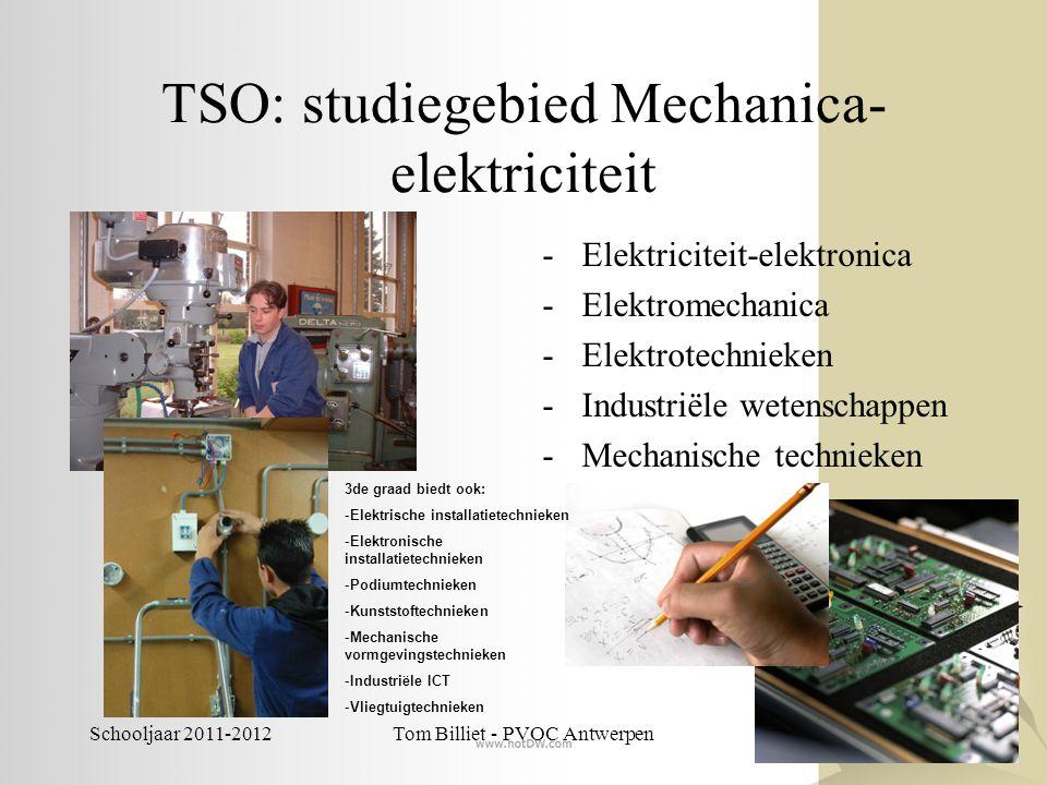 TSO: studiegebied Mechanica-elektriciteit