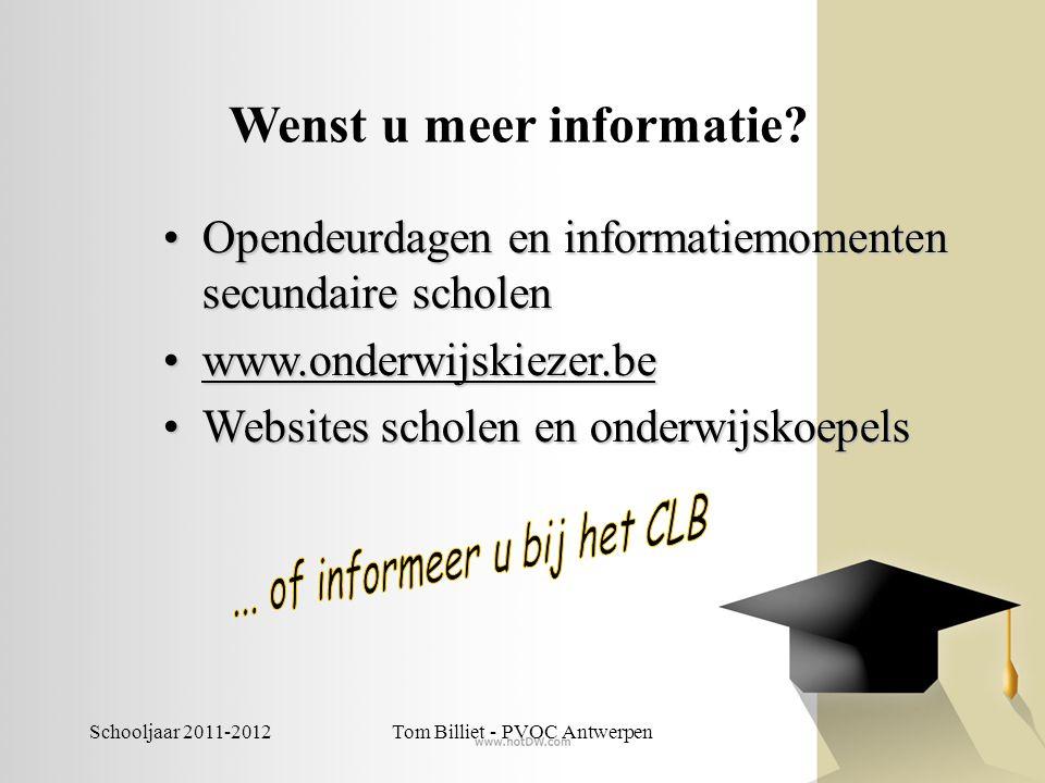 Wenst u meer informatie