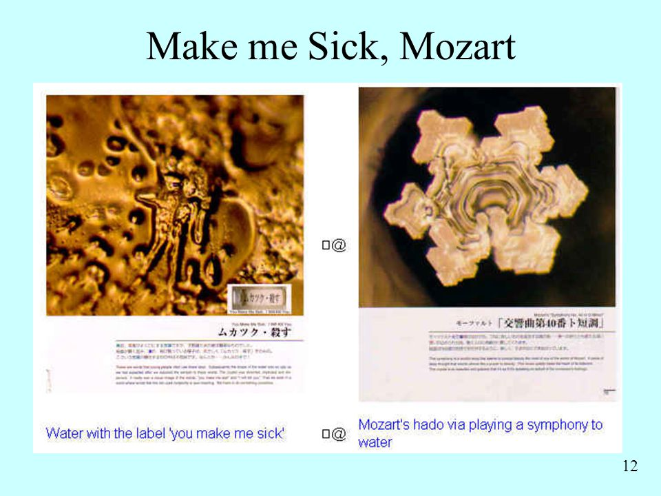 Make me Sick, Mozart