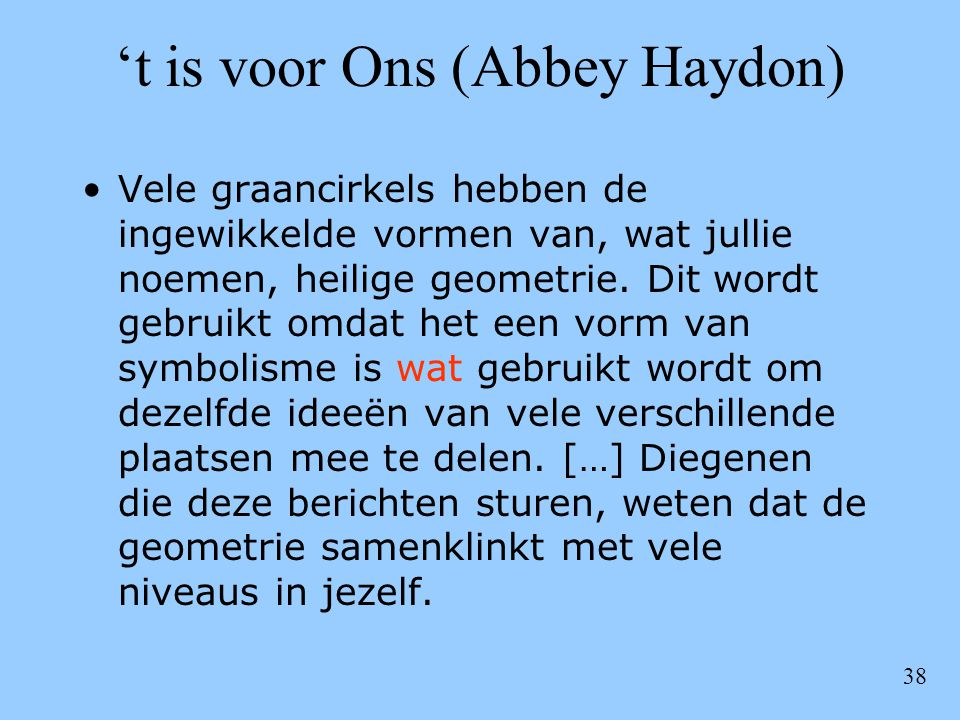 't is voor Ons (Abbey Haydon)