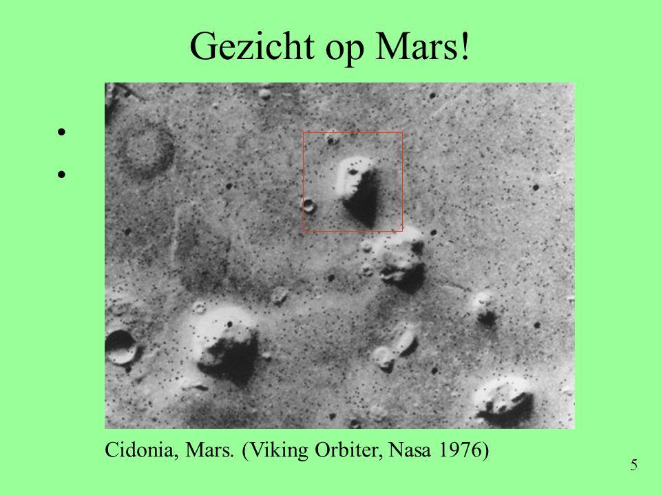 Gezicht op Mars! Cidonia, Mars. (Viking Orbiter, Nasa 1976)
