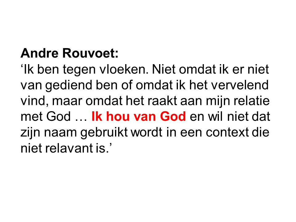 Andre Rouvoet: