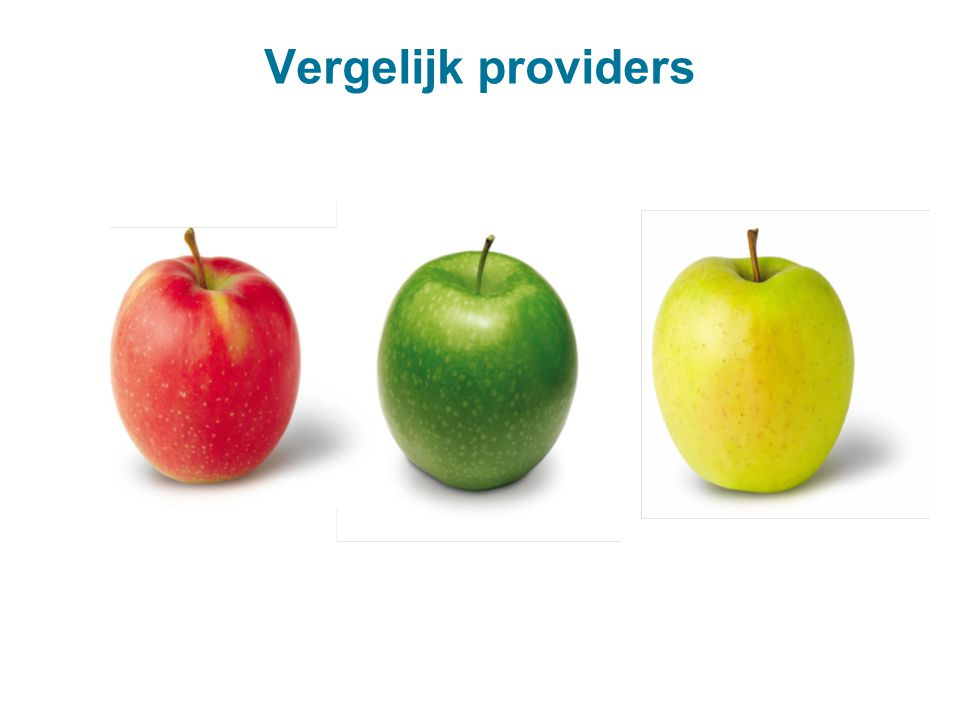 Vergelijk providers