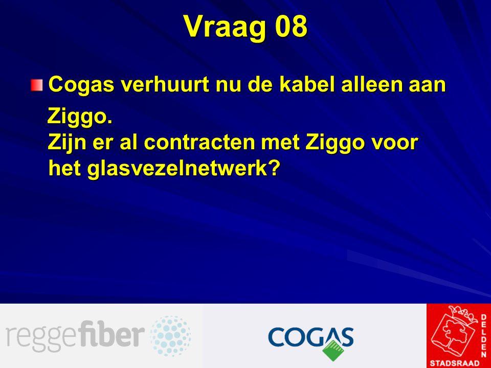 Vraag 08 Cogas verhuurt nu de kabel alleen aan