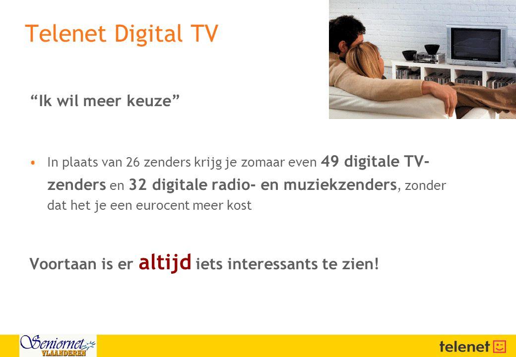 Telenet Digital TV Ik wil meer keuze