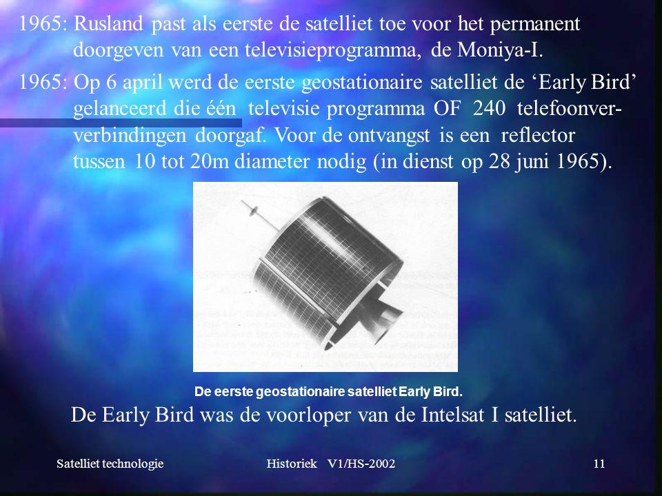 1965: Rusland past als eerste de satelliet toe voor het permanent