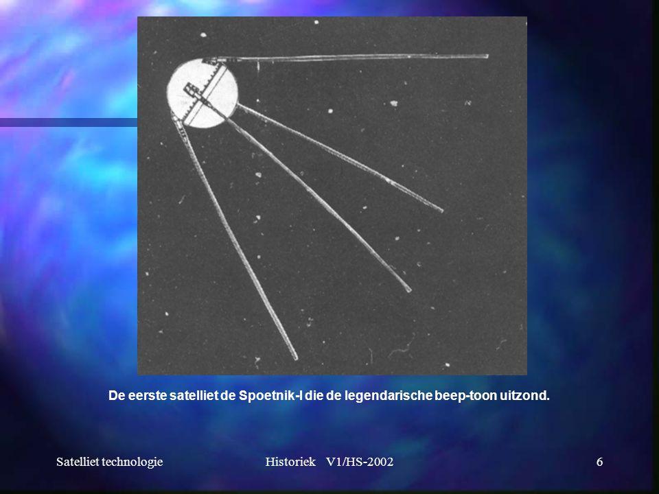 De eerste satelliet de Spoetnik-I die de legendarische beep-toon uitzond.