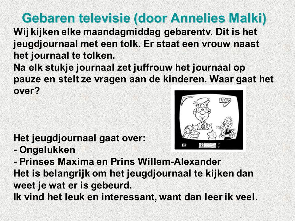 Gebaren televisie (door Annelies Malki)
