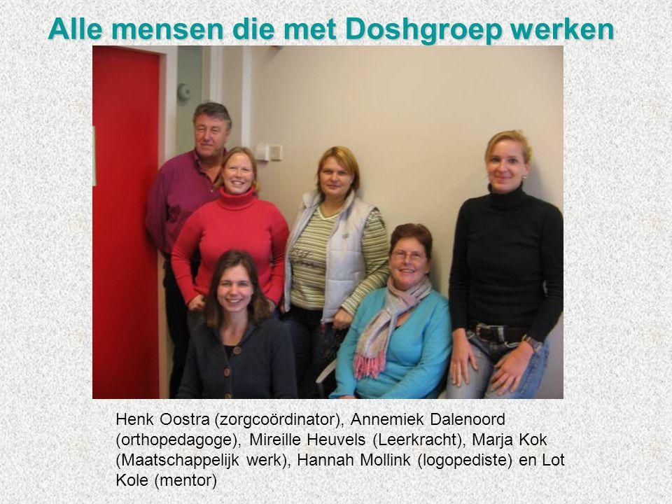 Alle mensen die met Doshgroep werken