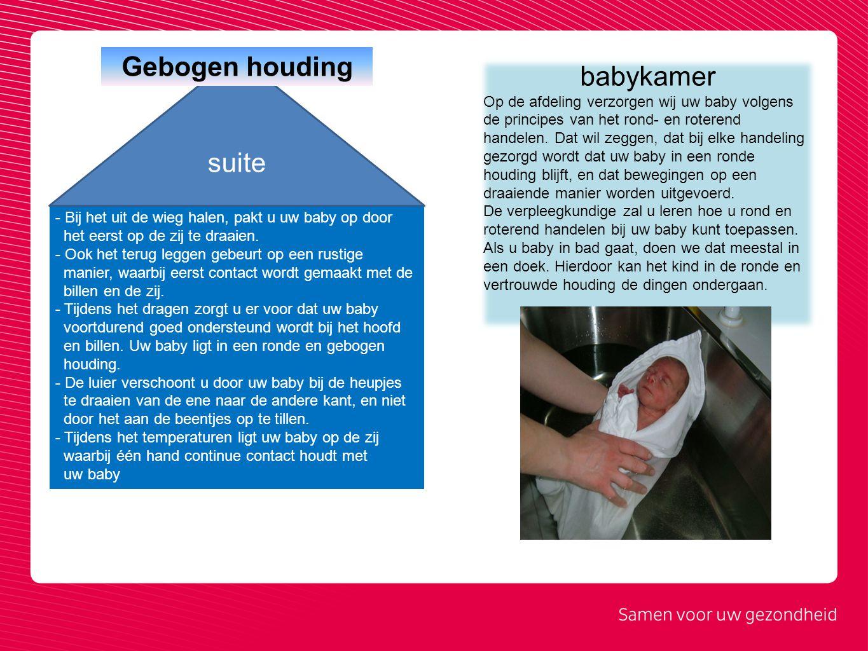 Gebogen houding babykamer suite