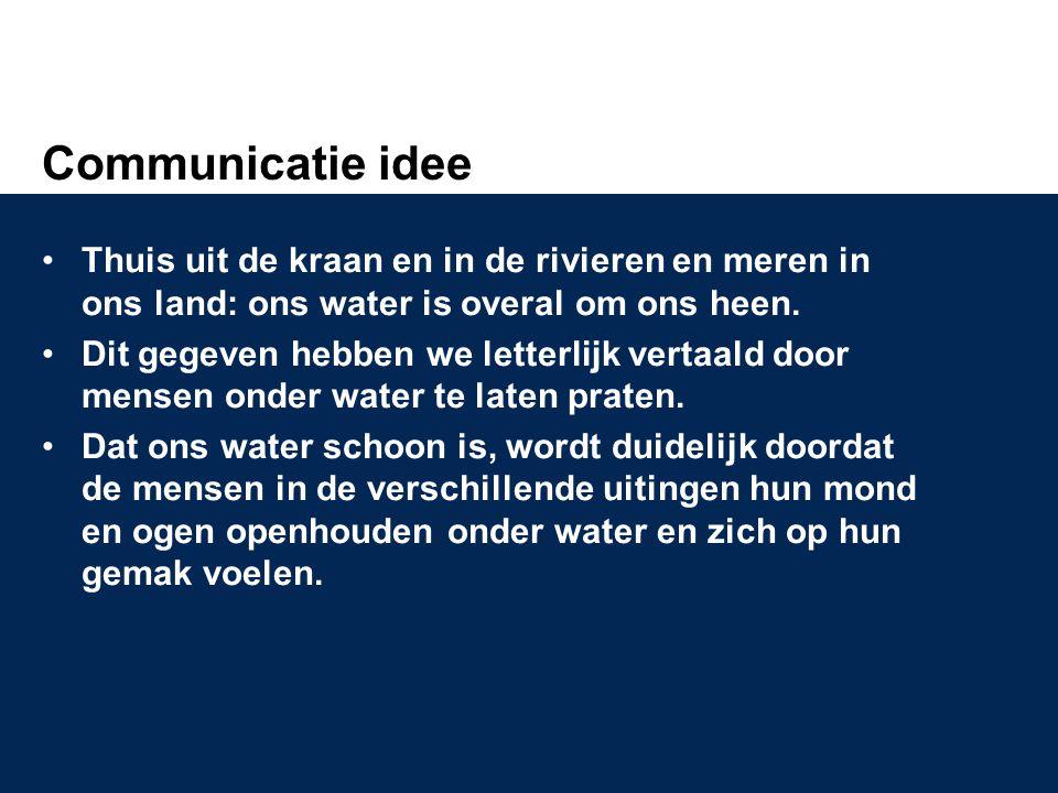 Communicatie idee Thuis uit de kraan en in de rivieren en meren in ons land: ons water is overal om ons heen.
