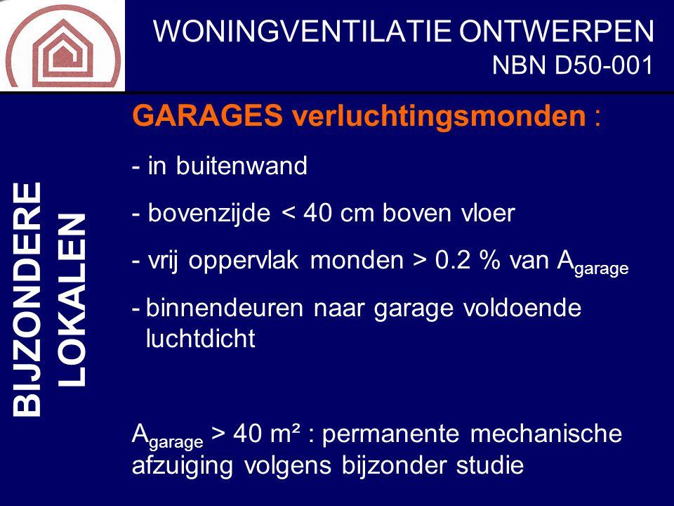 BIJZONDERE LOKALEN GARAGES verluchtingsmonden : NBN D50-001