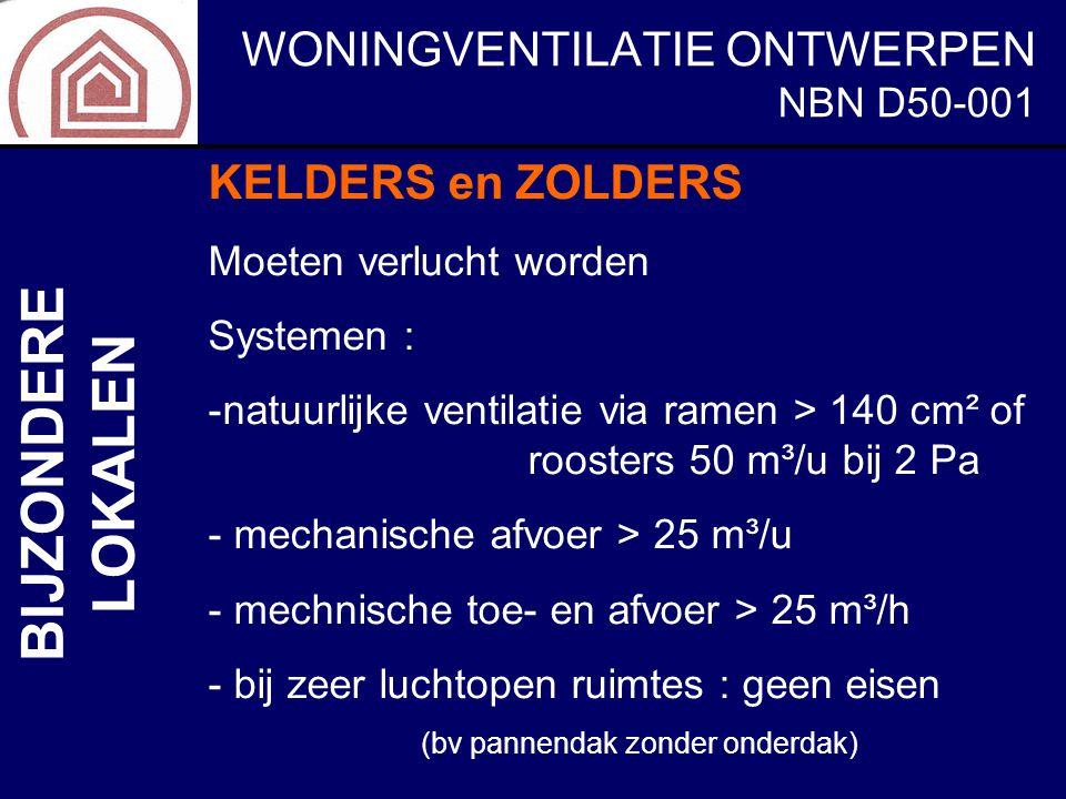 BIJZONDERE LOKALEN KELDERS en ZOLDERS NBN D50-001